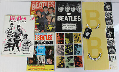 The Beatles Vintage Super Fan Lot Book Covers Magazines & More LOOK!!