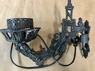 Vintage Cast Iron Bracket Swing Arm Wall Light/Lamp/Sconce - Electrified