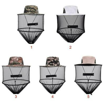 Outdoor Mosquito Resistance Cap Bug Bee Insect Net Mesh Head Face Protector Hat