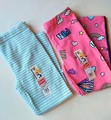 4e3366aac6a52c Girls Leggings 4T Toddler Metallic Stripe Pink Pants Fun 2 Pair Garanimals  Lot