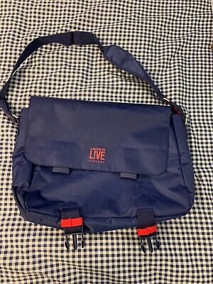 eccc3bb65b Lacoste Live Parfums Blue & Red Messenger Carry On Bag Crossbody
