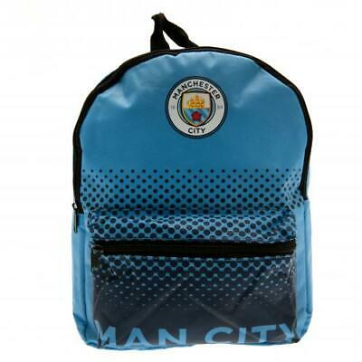 Manchester City FC Official Crested Junior Nylon Backpack School Bag Man City
