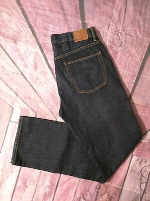 Mens Gap Dark Wash Whiskering Relaxed denim jeans (tag 32x36) Actual 34x34