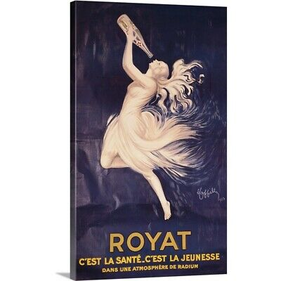 Solid-Faced Canvas Print Wall Art entitled Poster for Royat, by Leonetto