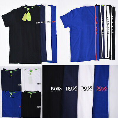 Hugo Boss  Men's Crew Neck Short Sleeve Green Label T-shirts