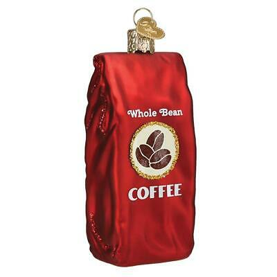 """""""Bag of Coffee Beans"""" (32387)X Old World Christmas Glass Ornament w/ OWC Box"""