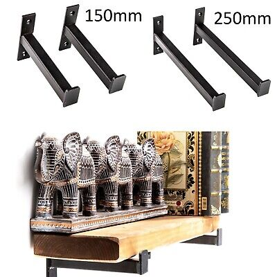 Large Storage Hooks Heavy Duty Shelf Brackets Wall Mounted Dark Rustic Style