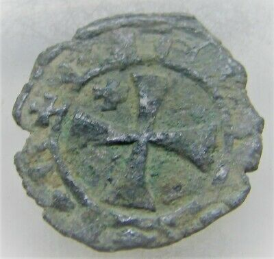 Ancient Byzantine Hammered Silver Crusaders Coin Uncleaned & Unresearched