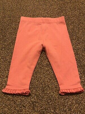 Mothercare pink ruffle detail leggings trousers baby girls 0-3 months