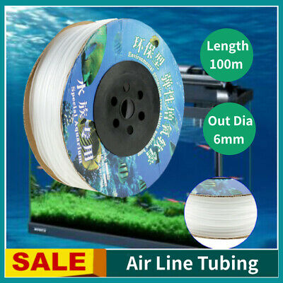 100M Silicone Tubing for Aquarium Fish Tank Tube Air Hose Air Line Air Pump AU