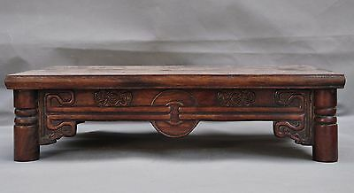 "18""Collect old Chinese huanghuali wood hand carved statue Tea ceremony Tea table"