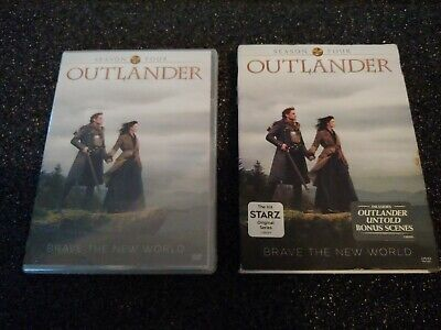 Outlander: Season 4 (DVD, 2019, 5-Disc Set) Sealed 4th Fourth Minor Case Damage
