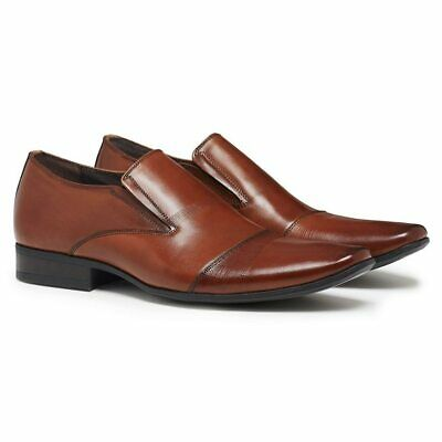 Julius Marlow Bernie Brown Leather Slip On Dress Formal Work Business Shoes Mens