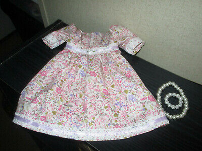 """HANDMADE DOLL CLOTHES FITS 18"""" AMERICAN GIRL - Pretty Floral Dress"""