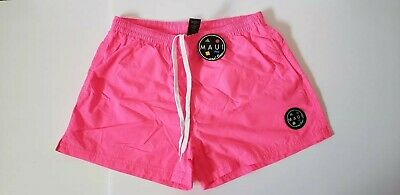 7d612de48a Maui And Sons Mens Party Rocker Volley Swim Short Neon Pink Size Small New  22.99