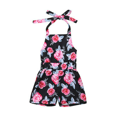 Toddler Newborn Baby Kids Girls Floral Romper Bodysuit Jumpsuit Outfit Clothes