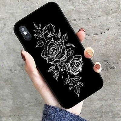 Rose Art Print Slim Hard Phone Case Cover For Samsung S9 iPhone 8 Huawei P20 BR
