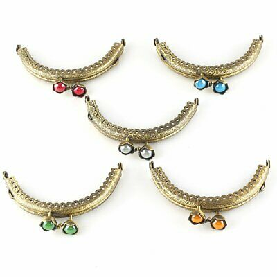 5pcs Vintage Retro Metal Purse Bag Frame Kiss Clasp Lock Bronze Tone Clip 8.5cm
