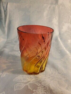 Antique Amberina Swril Tumbler.  Rare