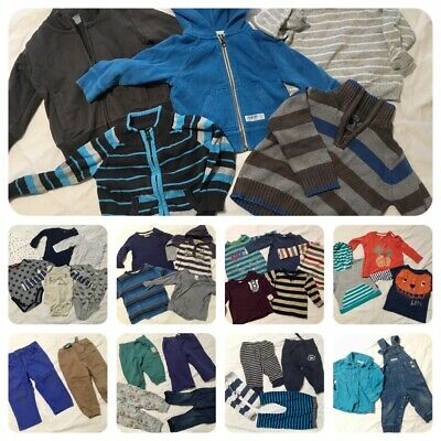 Boys Winter Clothes Bulk Lot - Size 0 - Baby 6-12 months - VGUC - 38 items