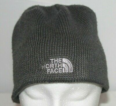 The North Face Adult Unisex One Size Gray Winter Beanie Fleece Lining Hat Cap