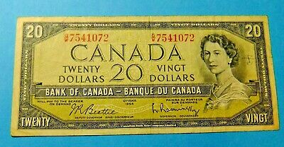 1954 Bank of Canada 20 Dollar Note - F15