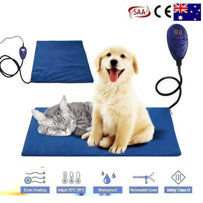 Electric Heating Pad for Dogs Cats Warming Beds Pet Mat Soft Waterproof Cover AU