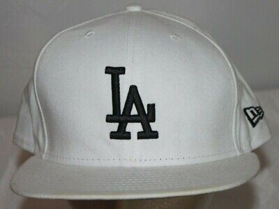 New Era 59Fifty Los Angeles LA Dodgers Game Fitted Hat White MLB Cap sz 8