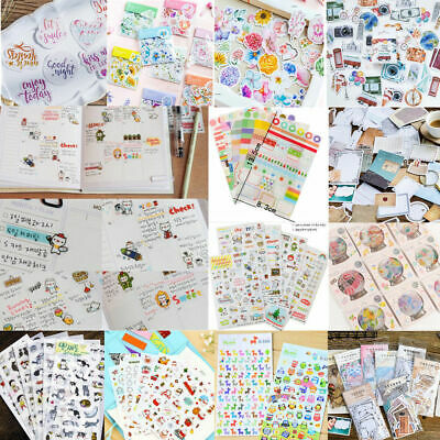 DIY Paper Calendar Scrapbook Album Diary Book Decor Plants Animals Sticker Craft