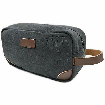 Men Shaving Dopp Kit Case Small Vintage Cosmetic Bag Canvas Travel Toiletry Make