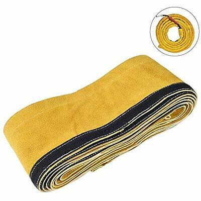 """TIG Welding Torch Cable Cover - Flame Resistant Leather Kevlar Stitched 137""""x"""