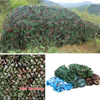 Woodland Leaves Military Camouflage Net Hunting Shooting Camo w/ String Netting