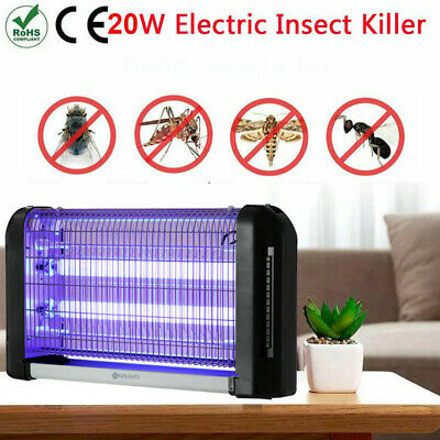 Electric UV Insect Killer 20W Mosquito Pest Fly Zapper Catcher Trap LED Lamp UK