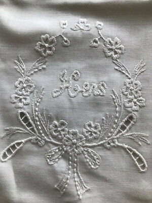 Vintage Embroidered His/Her Cotton Pillowcases.unused.