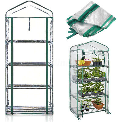 4 Tier Mini Greenhouse Walk-in Cover PVC Grow House Protector – COVER ONLY