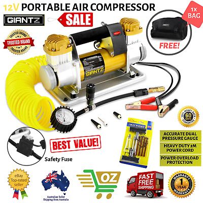 12V Portable Air Compressor Tyre Deflator Inflator 4WD 4x4 Car Truck 200PSI 200L