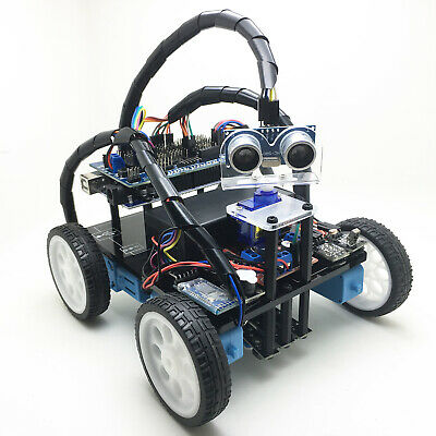 Smart Robot Car Chassis Kit Avoid Tracking IR Bluetooth Gear Motor Arduino MEGA
