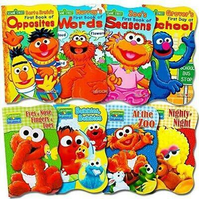 Sesame Street Ultimate Board Books Set For Kids Toddlers -- Pack of 8 Board