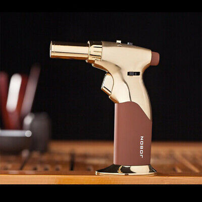 Windproof Jet Flame Refillable Butane Cigar Lighter JOBON Gold