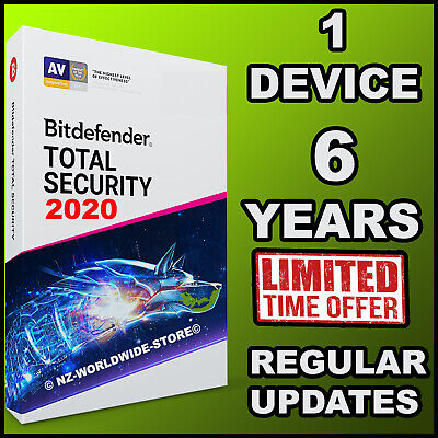 Bitdefender Total Security 2019 -  6 Years 1 Device Activation - Download