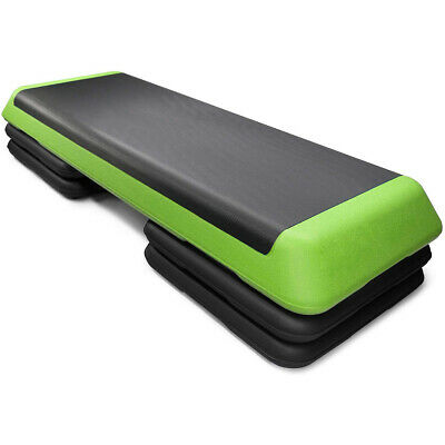 """Fitness Aerobic Step 43'' Cardio Adjust 4"""" - 6"""" - 8"""" Exercise Stepper w/Risers"""