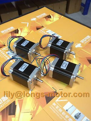 4pcs Nema 23 stepper motor 78mm 270oz.in, 4leads 3A 23HS8430 LONGS EU FREE SHIP