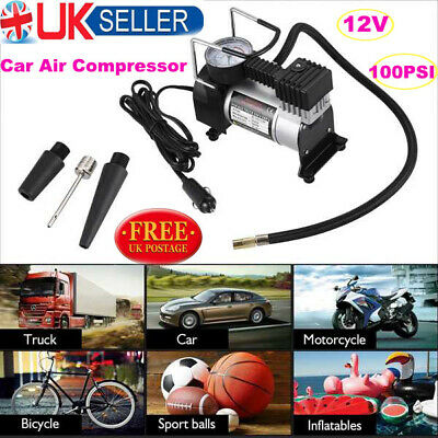 Heavy Duty 12v Car Air Compressor 100PSI Tyre Deflator Portable Inflator Pump AN