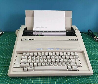 Smith Corona WordSmith 100 Compact Electric Typewriter Tested and Working
