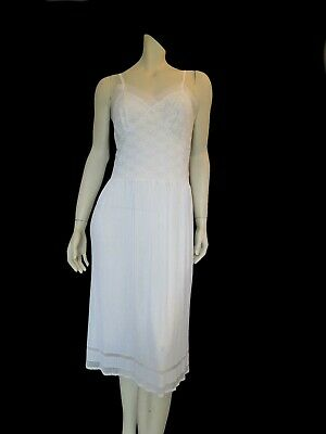 Lacy White Vintage Slip With Micro Pleated Skirt - Bust 96-101 cm