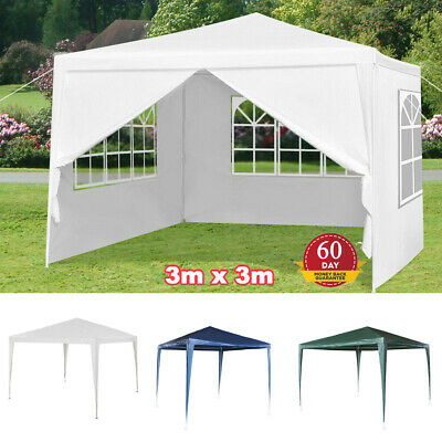 3x3M Gazebo Party Tent Outdoor Garden Marquee Canopy Wedding Awning Car Shelter