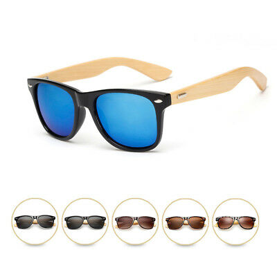 Bamboo Sunglasses Wooden Vintage Retro Men Women Glasses Summer Shades Eyewear
