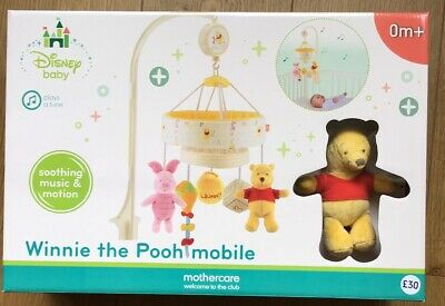 Mothercare Disney Baby Winnie The Pooh Musical Cot Mobile ** BNIB**