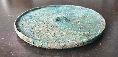 Rare ancient viking bronze mirror with handle  fine condition 8th- century AD