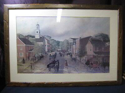 "Barclay Rubincam 1963 ""Looking North on High Street"" West Chester PA FramedPrint"
